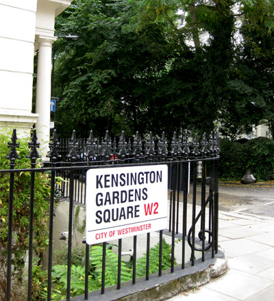 Kensington Gardens Square W2, city of westminster