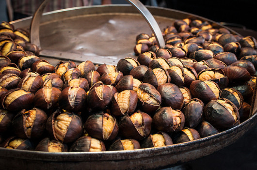 Roasted chestnuts by Michele Lee