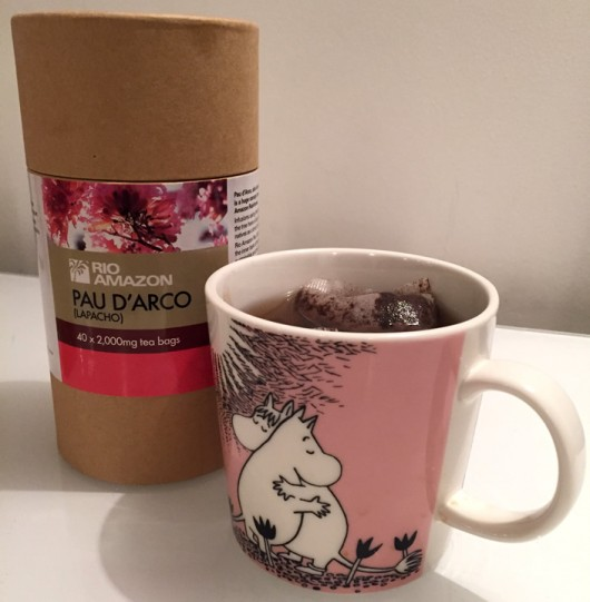 Pau D'Arco tea with the Moomins by Katherine Ung