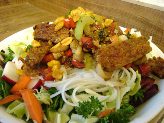 Vegan Bun with Spicy Tempeh by Kari Sullivan